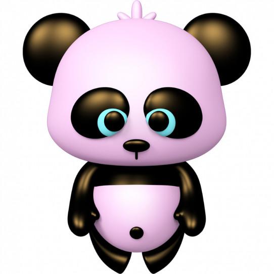 Stickers effet 3D- Panda rose