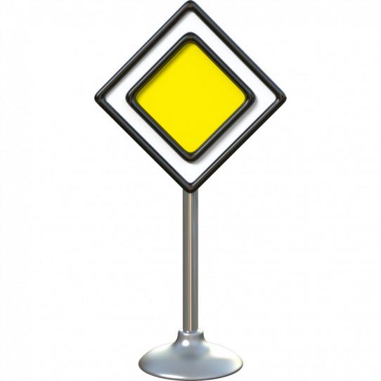 Stickers effet 3D- Panneau routier 10
