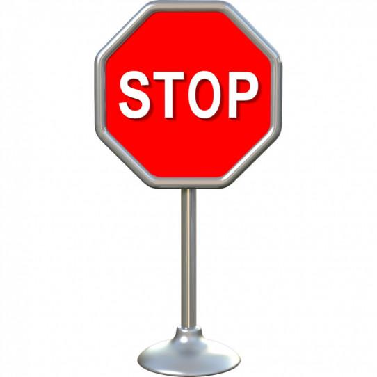 Stickers effet 3D- Panneau STOP