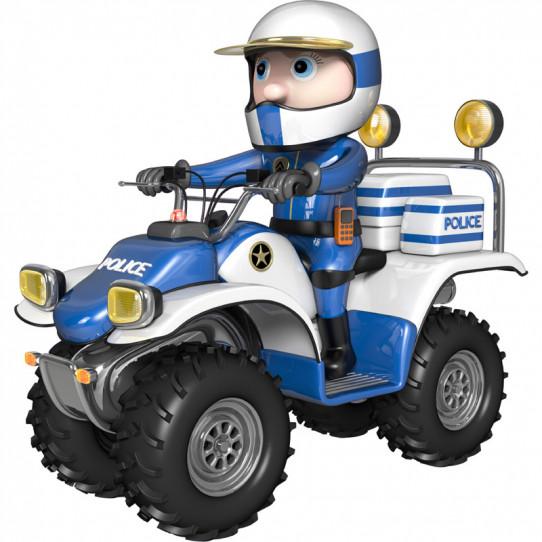 Stickers effet 3D- Policier en quad