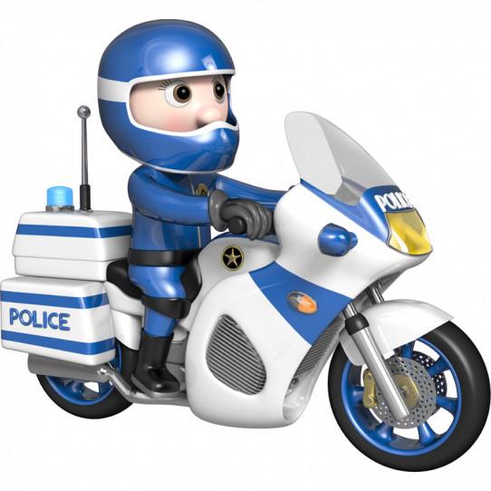 Stickers effet 3D- policier Motard