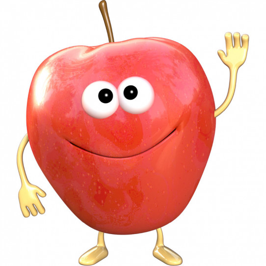 Stickers effet 3D- Pomme rouge