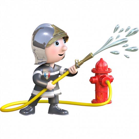 Stickers effet 3D- Pompier 2