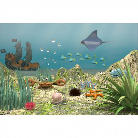 Stickers effet 3D - Poster Océan