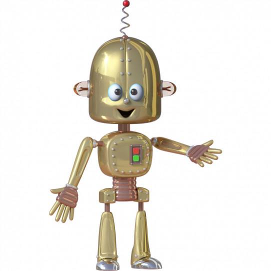 Stickers effet 3D- Robot 3