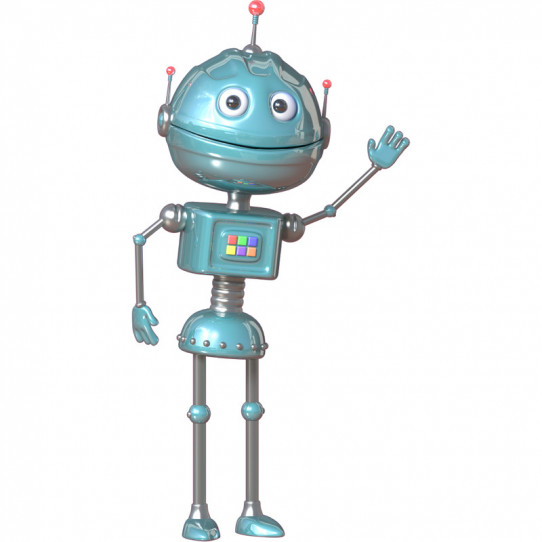 Stickers effet 3D- Robot 4