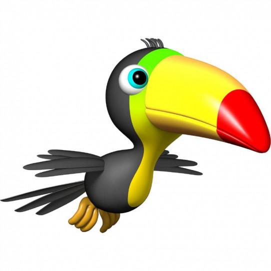 Stickers effet 3D- Toucan