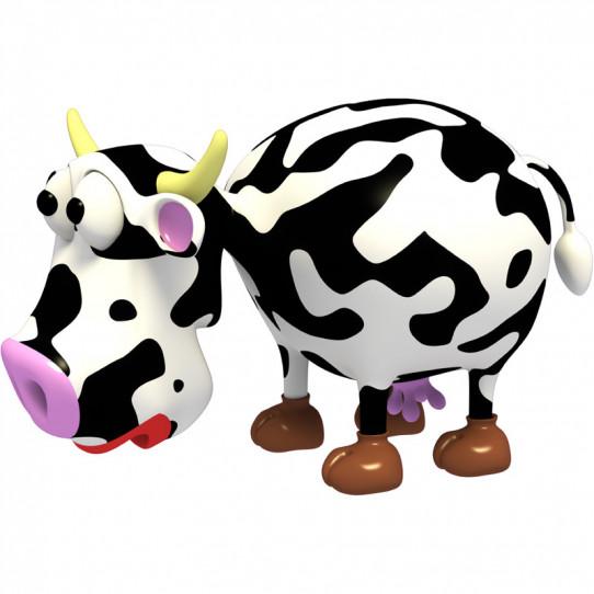 Stickers effet 3D- Vache