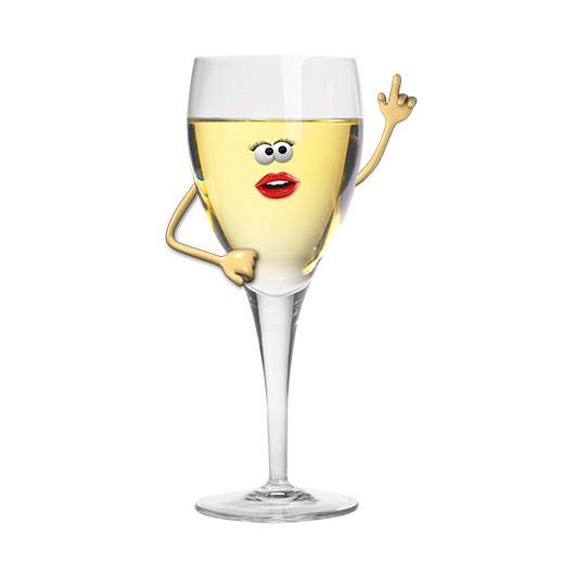 Stickers effet 3D Vin blanc