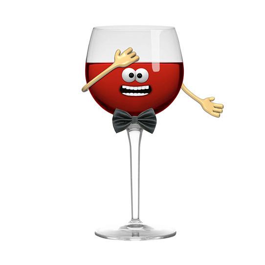Stickers effet 3D Vin rouge