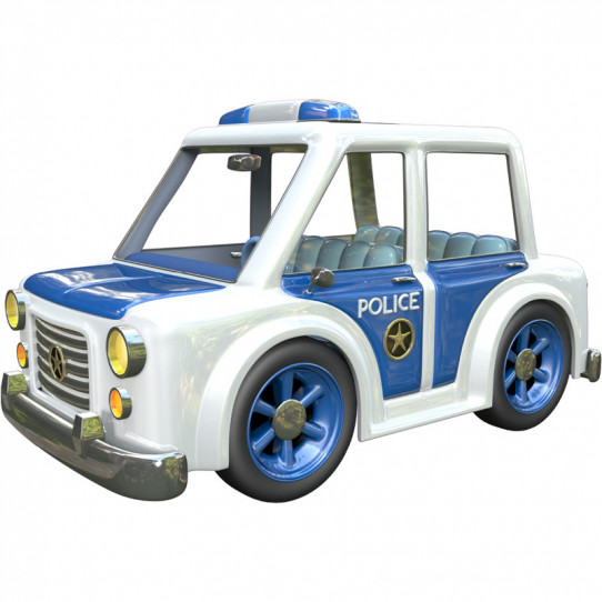 Stickers effet 3D - Voiture de police 2