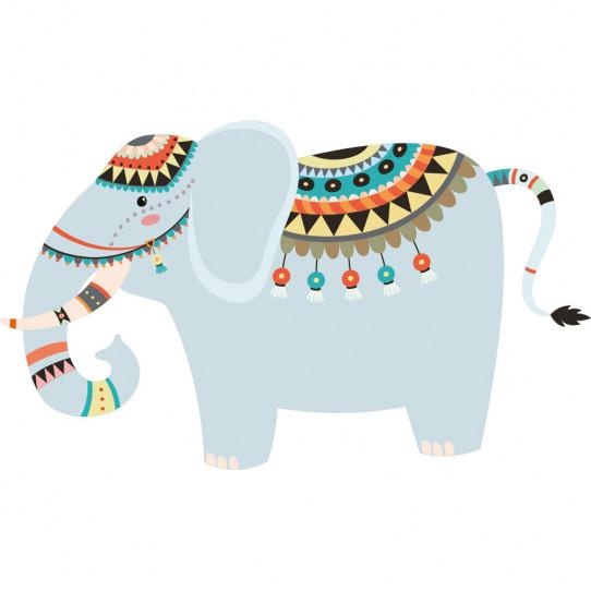 Stickers éléphant indien