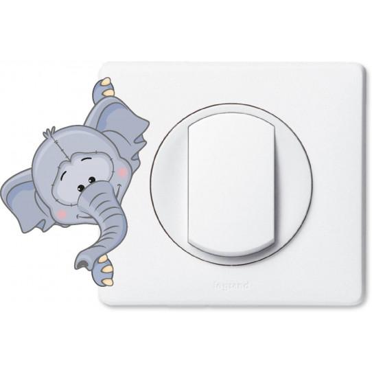 Stickers éléphant pour prise et interrupteur