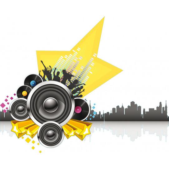 Stickers étoiles musique