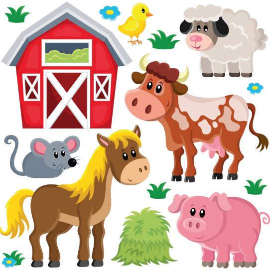 Stickers ferme et animaux