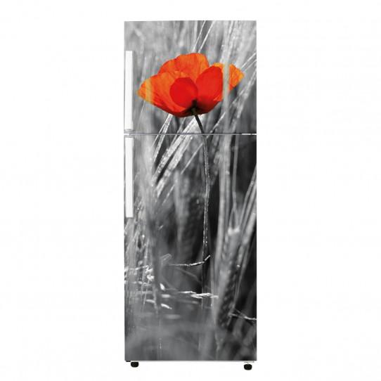 Stickers Frigo - Fleur rouge