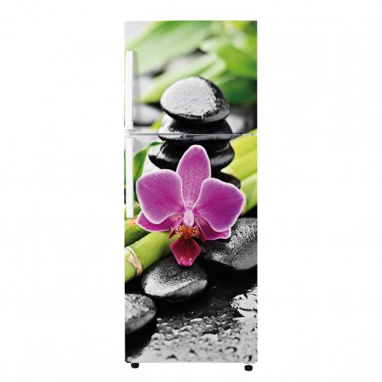 Stickers Frigo - Galets fleur 2