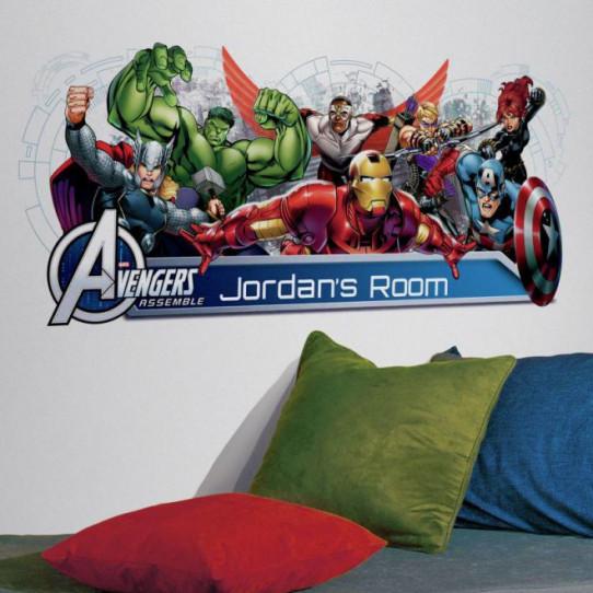 Stickers géant Avengers Prénom Marvel