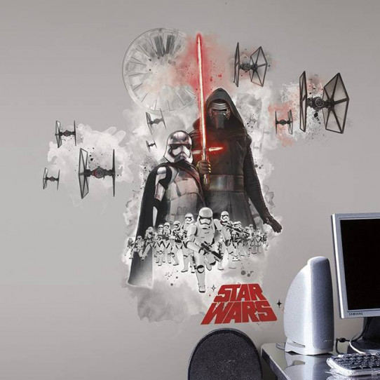 Stickers géant Star Wars Kylo Ren & Stormtroopers