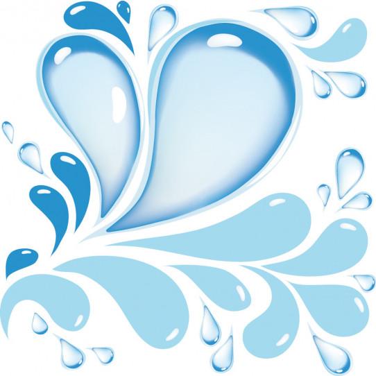 Stickers gouttes d 'eau