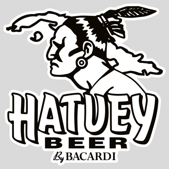 Stickers hatuey beer by bacardi