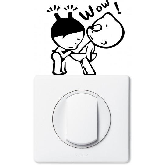 Stickers humour pour prise et interrupteur
