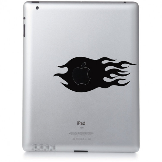 Stickers ipad 2 flaming