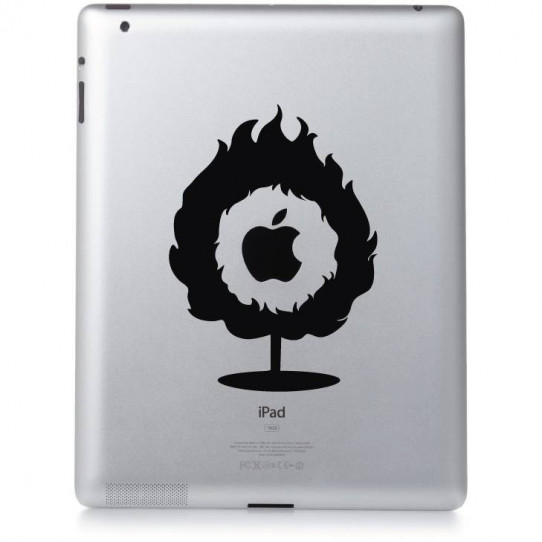 Stickers ipad 2 flamme