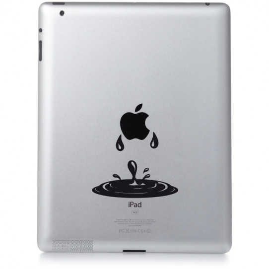 Stickers ipad 2 goutte d'eau