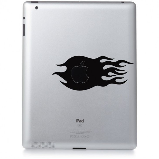 Stickers ipad 3 flaming