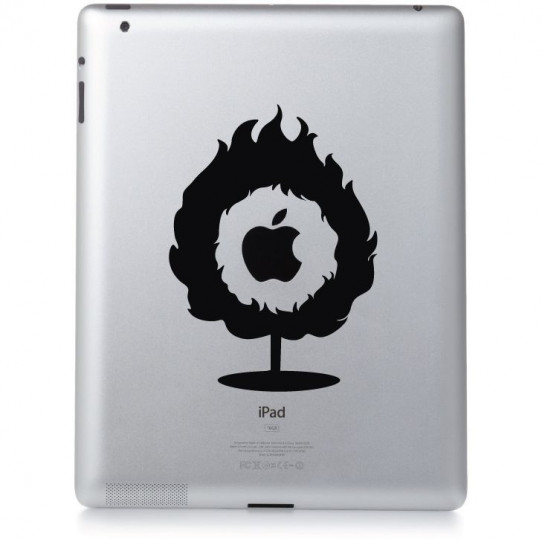 Stickers ipad 3 flamme