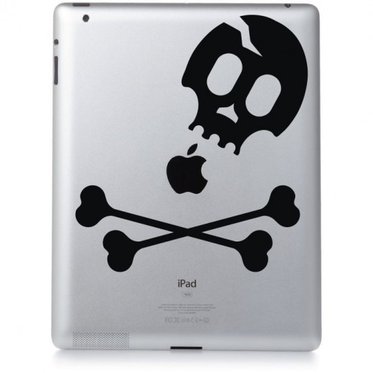 Stickers ipad 3 skull