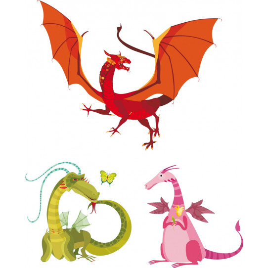 Stickers kit 3 dragons