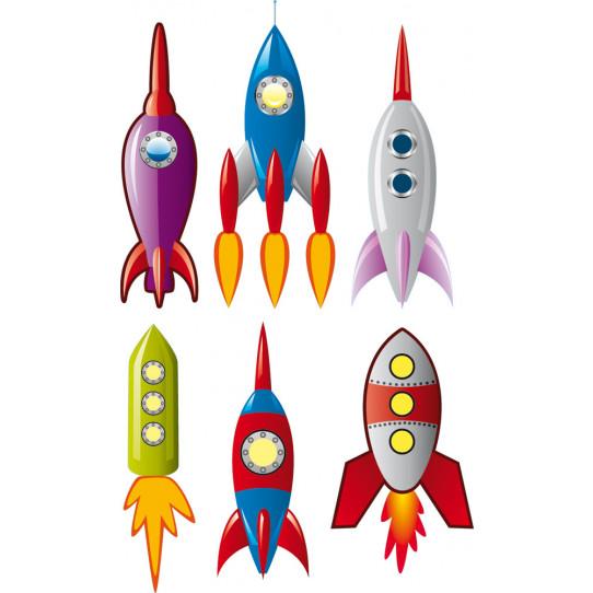 Stickers kit 6 fusées