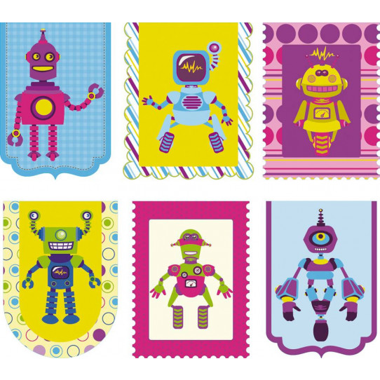 Stickers kit 6 robots