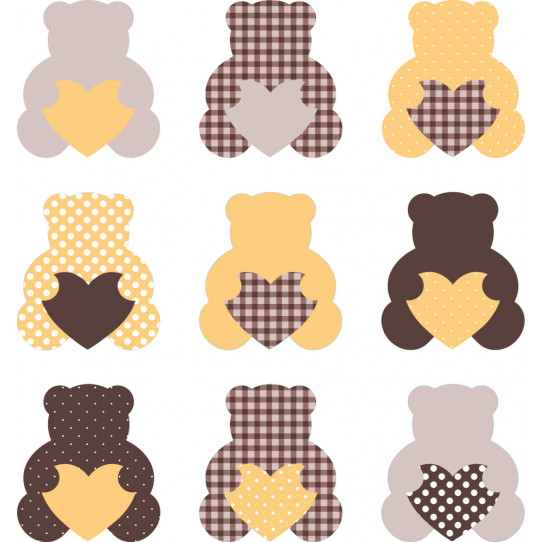 Stickers kit 9 oursons