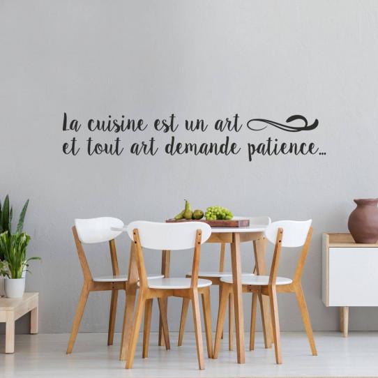 Stickers la cuisine est un art et tout art demande patience..