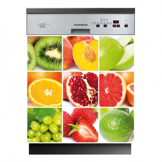 Stickers lave vaisselle fruits