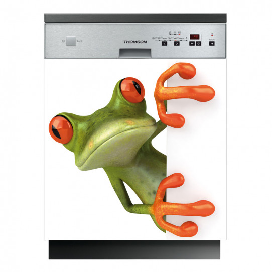 Stickers lave vaisselle grenouille