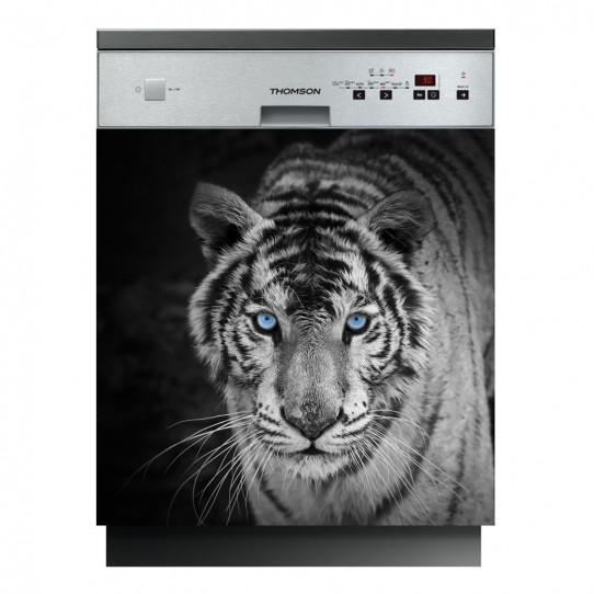 Stickers lave vaisselle tigre