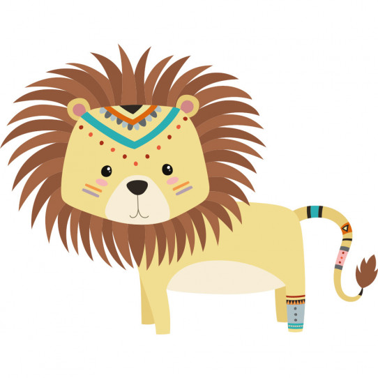 Stickers lion indien