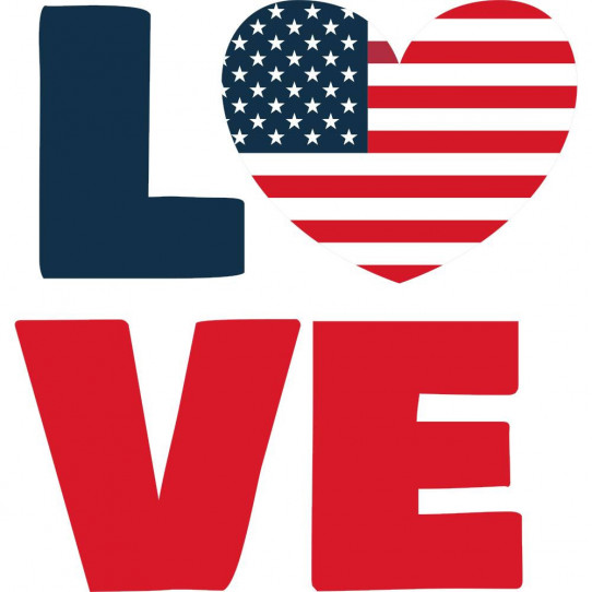 Stickers love USA
