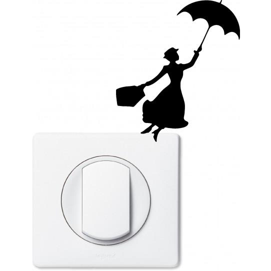 Stickers mary poppins pour prise et interrupteur