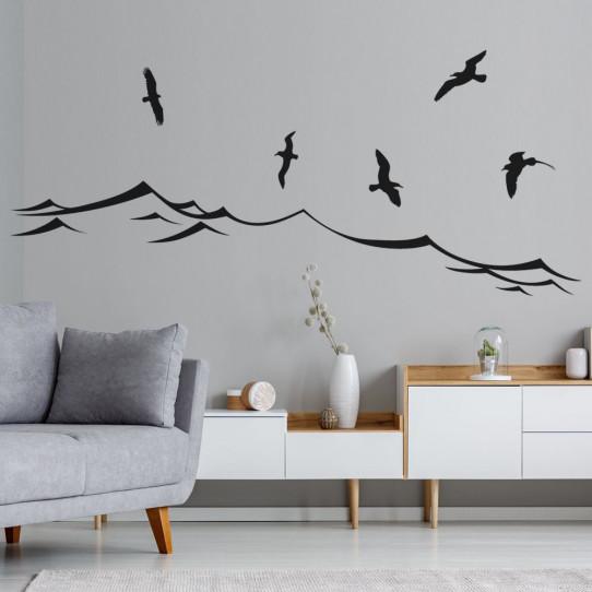 Stickers mer oiseaux
