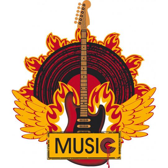 Stickers musique feu