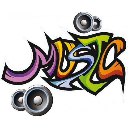 Stickers musique tag