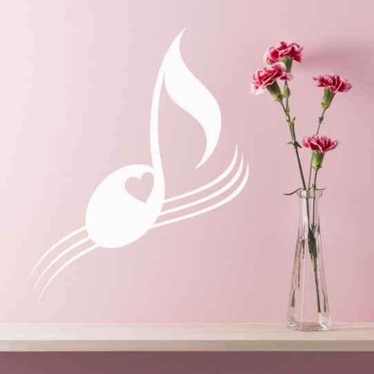 Stickers note de musique coeur
