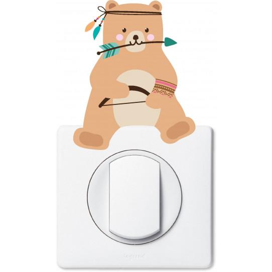 Stickers ours pour prise et interrupteur