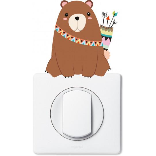 Stickers ours prise et interrupteur