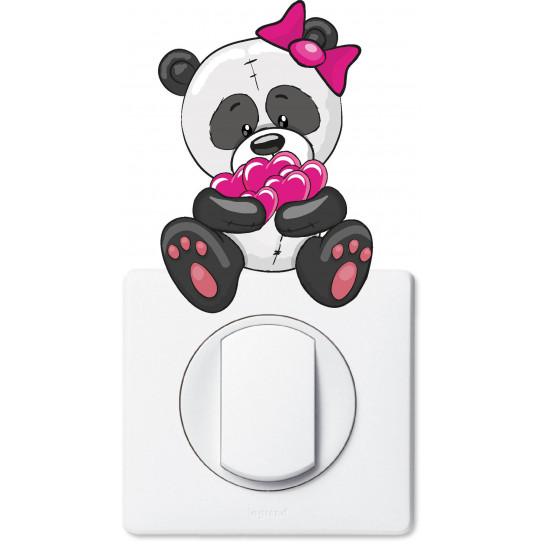 Stickers ourson coeur pour prise et interrupteur